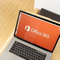 Apple MacBook Pro showing Microsoft Office 365 home screen representing Purple   Certified Apple IT Support's tech how to guide.