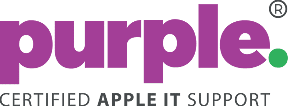 Logo of Purple Computing | Certified Apple IT Support, a service provider for business IT support services in Southampton, Reading, Exeter and Bristol